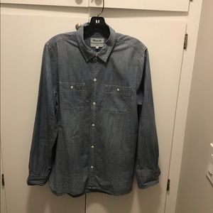 Madewell classic denim button down